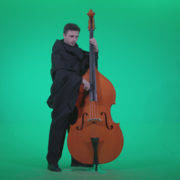 Gotic-Contrabass-Jazz-Performer-1_001 Green Screen Stock