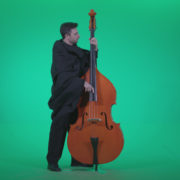 Gotic-Contrabass-Jazz-Performer-1_002 Green Screen Stock