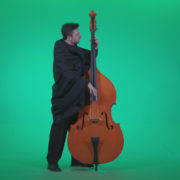 Gotic-Contrabass-Jazz-Performer-1_004 Green Screen Stock