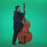 Gotic-Contrabass-Jazz-Performer-1_005 Green Screen Stock