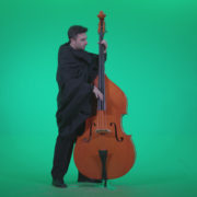 Gotic-Contrabass-Jazz-Performer-1_006 Green Screen Stock