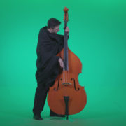 Gotic-Contrabass-Jazz-Performer-1_007 Green Screen Stock