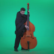 Gotic-Contrabass-Jazz-Performer-1_008 Green Screen Stock