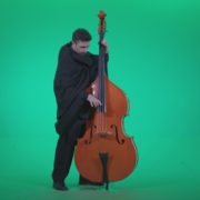 Gotic-Contrabass-Jazz-Performer-1_009 Green Screen Stock