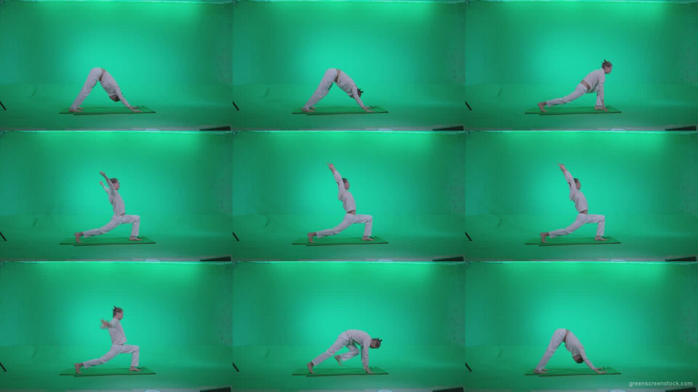 Man-practicing-yoga-shanti1 Green Screen Stock