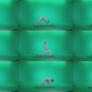 Man-practicing-yoga-shanti1 Green Screen Stock
