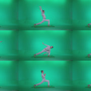 Man-practicing-yoga-shanti2 Green Screen Stock