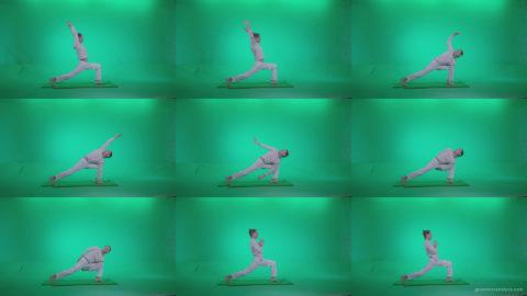 Man-practicing-yoga-shanti2 Green Screen Stock
