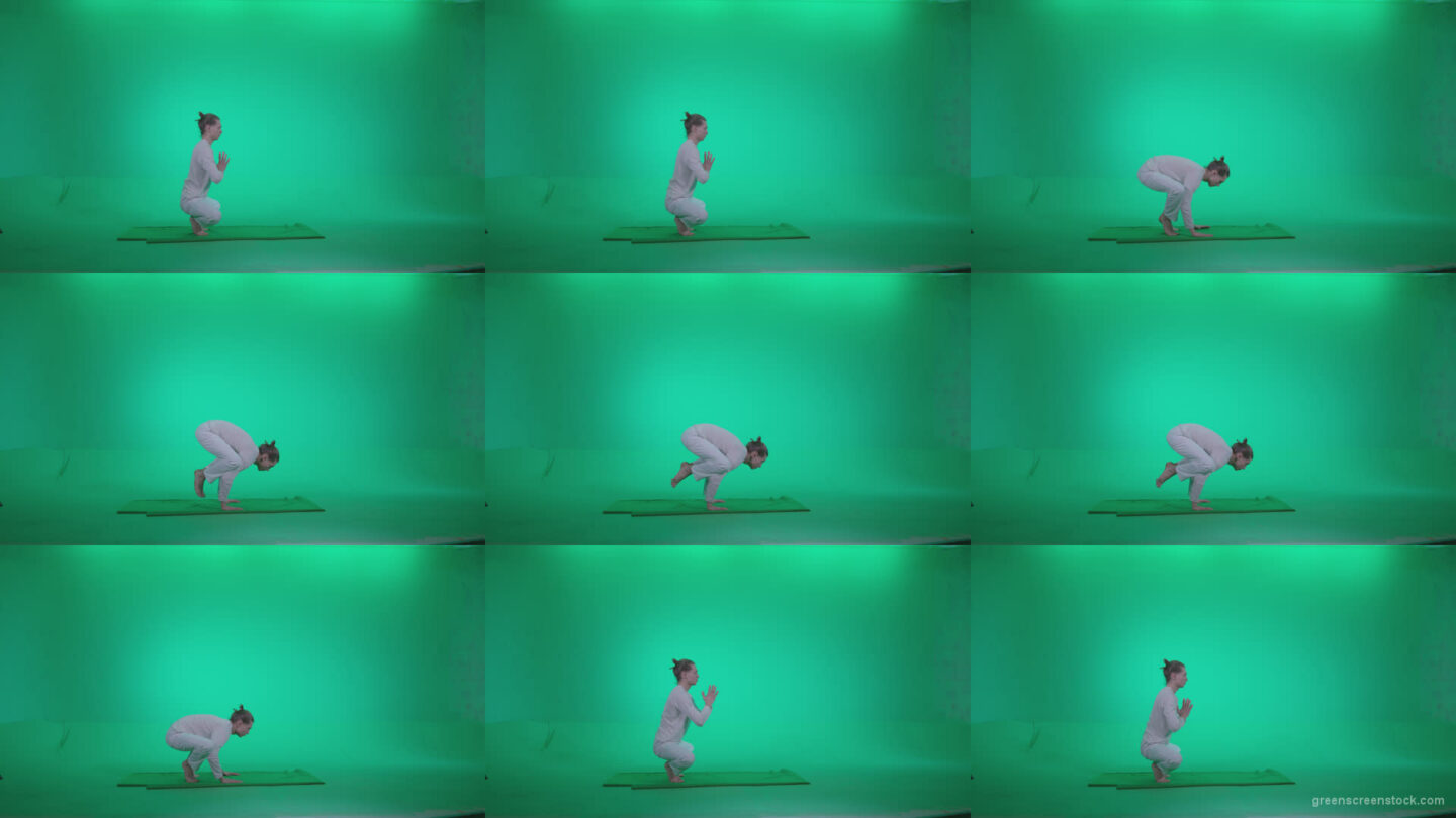 Man-practicing-yoga-shanti3 Green Screen Stock