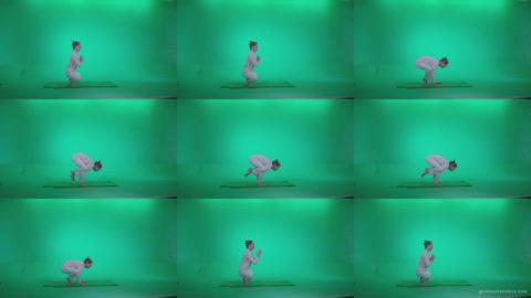 Man-practicing-yoga-shanti3 Green Screen Stock