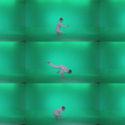Man-practicing-yoga-shanti4 Green Screen Stock