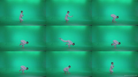 Man-practicing-yoga-shanti4 Green Screen Stock