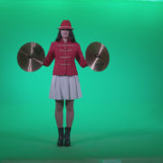 Preteen-Girl-Playing-The-Cymbals-c1_004 Green Screen Stock