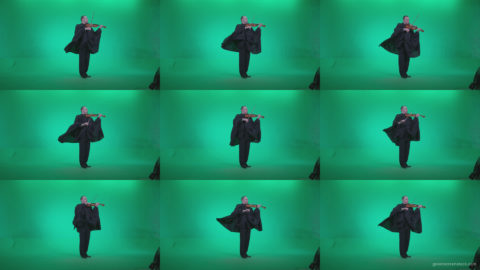 Professional-Violin-player-man-z4 Green Screen Stock