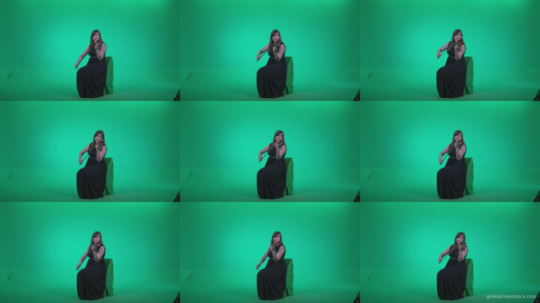 Professional-Violin-player-woman-z3 Green Screen Stock