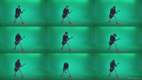 Punk-Guitarist-Playhard-Q2 Green Screen Stock