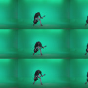 Punk-Guitarist-Playhard-Q3 Green Screen Stock