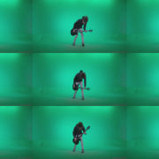 Punk-Guitarist-Playhard-Q4 Green Screen Stock