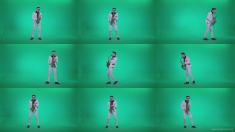 Saxophone-Virtuoso-Performer-s1 Green Screen Stock