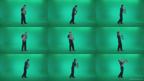 Saxophone-Virtuoso-Performer-s3 Green Screen Stock