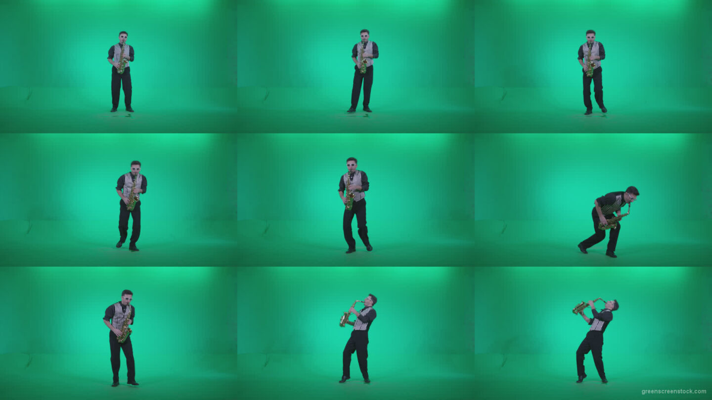 Saxophone-Virtuoso-Performer-s4 Green Screen Stock