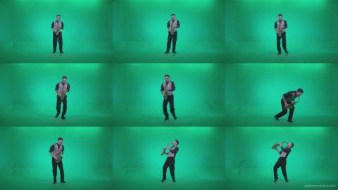 Saxophone-Virtuoso-Performer-s4 Green Screen Stock