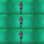 Snare-Drumming-girl-w1 Green Screen Stock