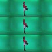 Snare-Drumming-girl-w2 Green Screen Stock