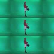 Snare-Drumming-girl-w3 Green Screen Stock