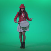 Snare-Drumming-girl-w4_001 Green Screen Stock