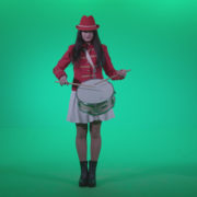 Snare-Drumming-girl-w4_002 Green Screen Stock