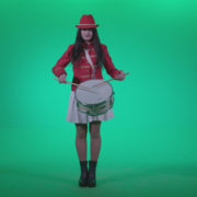 Snare-Drumming-girl-w4_004 Green Screen Stock