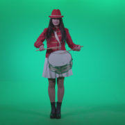 Snare-Drumming-girl-w4_007 Green Screen Stock