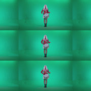 Snare-Drumming-girl-with-white-haire-z1 Green Screen Stock