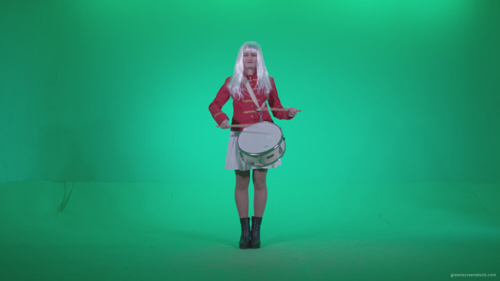 vj video background Snare-Drumming-girl-with-white-haire-z1_003