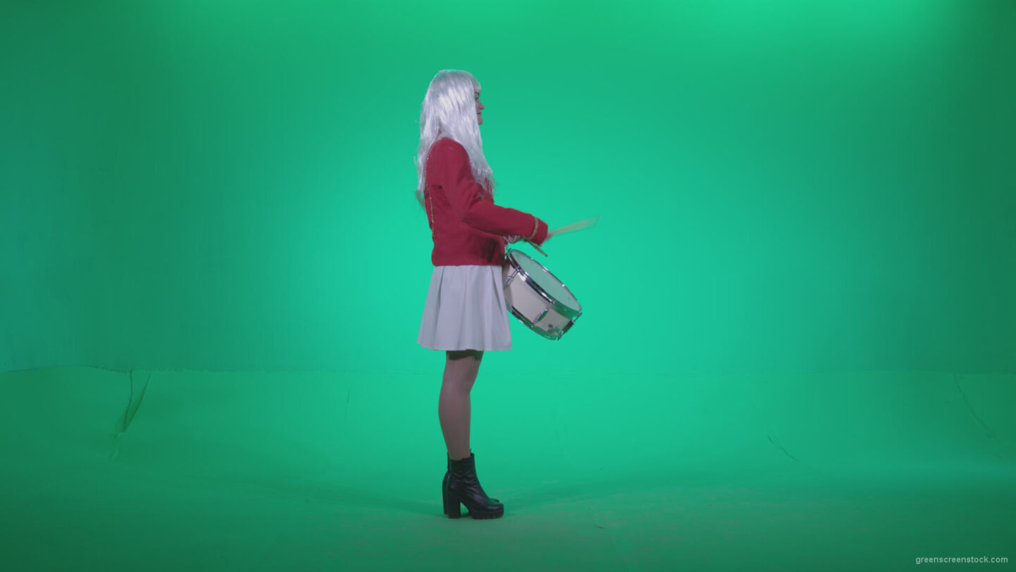 vj video background Snare-Drumming-girl-with-white-haire-z3_003