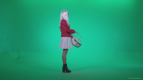 vj video background Snare-Drumming-girl-with-white-haire-z4_003