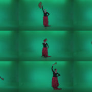 Traditional-Spanish-Flamenco-dancer-s1 Green Screen Stock