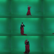 Traditional-Spanish-Flamenco-dancer-s2 Green Screen Stock