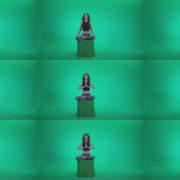 Woman-practicing-yoga-shanti1 Green Screen Stock