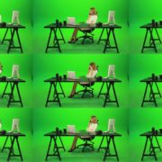 Angry-Business-Woman-Talking-on-the-Phone-Green-Screen-Footage Green Screen Stock