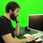 Beard-Man-Pushes-the-Button-Green-Screen-Footage-2_009 Green Screen Stock