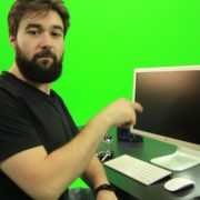 Beard-Man-Types-the-Code-for-Computer-Explosion-Green-Screen-Footage_006 Green Screen Stock
