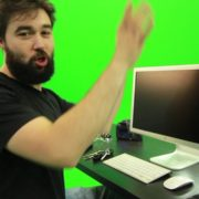 Beard-Man-Types-the-Code-for-Computer-Explosion-Green-Screen-Footage_007 Green Screen Stock