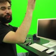 Beard-Man-Types-the-Code-for-Computer-Explosion-Green-Screen-Footage_008 Green Screen Stock