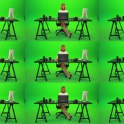 Business-Woman-Working-in-the-Office-2-Green-Screen-Footage Green Screen Stock
