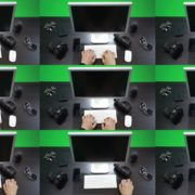 First-Person-View-Computer-Working-Green-Screen-Footage Green Screen Stock