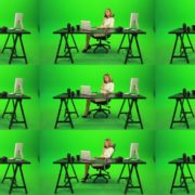 Happy-Business-Woman-Talking-on-the-Phone-Green-Screen-Footage Green Screen Stock
