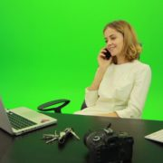 Laughing-Business-Woman-is-Talking-on-the-Phone-Green-Screen-Footage_005 Green Screen Stock