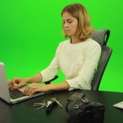 Serious-Business-Woman-Working-on-the-Computer-Green-Screen-Footage_007 Green Screen Stock